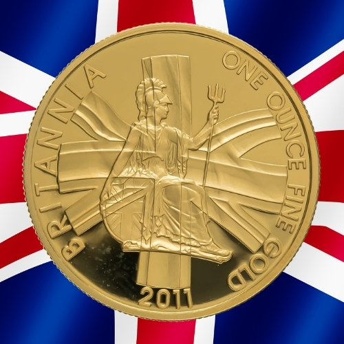 Gold Britannia Coins - The Union Flag Britannia 1 oz gold coin 2011