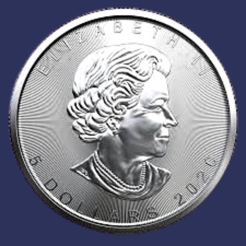 Canadian Silver Maple Leaf obverse