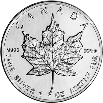 Silver Maple Leaf coin review 1988 silver maple leaf coin reverse side