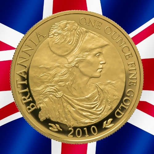 Gold Britannia Coins - The profile Britannia 1 oz gold coin 2010