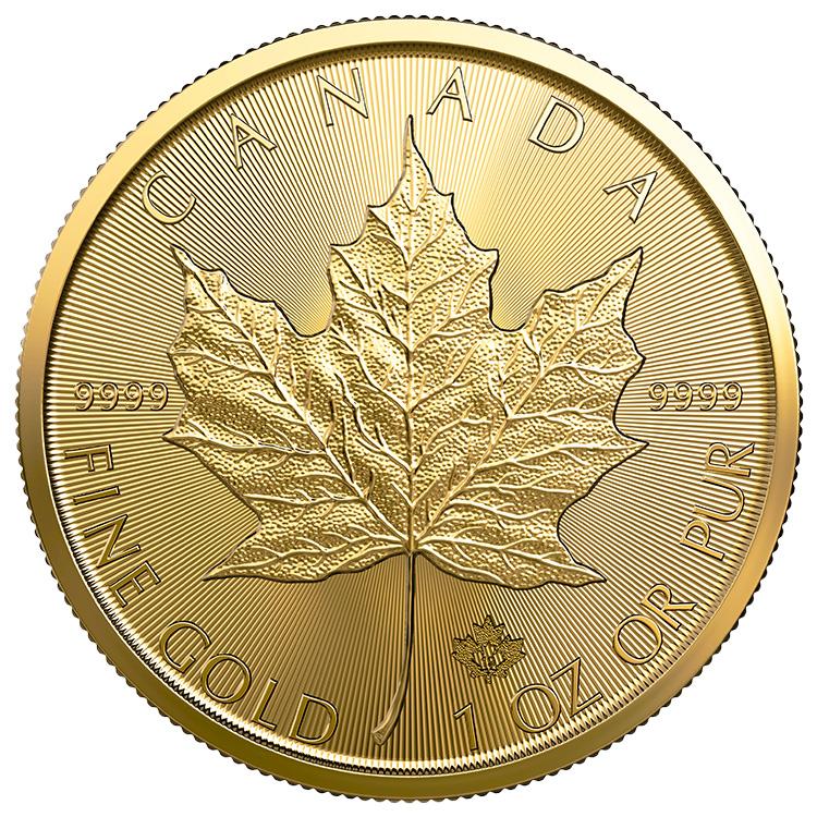 gold maple 1 oz reverse