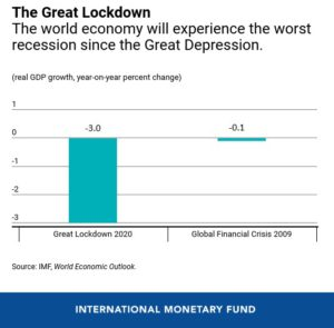 2020 economic crisis fall of GDP
