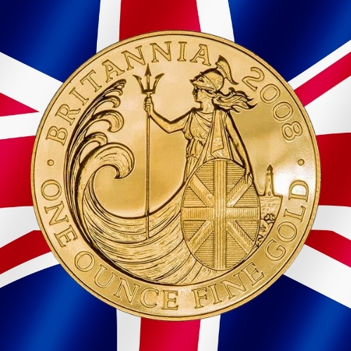 Gold Britannia Coins - Lighthouse Britannia 1 oz gold coin 2008