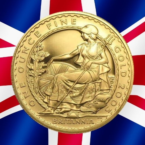 Gold Britannia Coins - Seated Britannia 1 oz gold coin 2005
