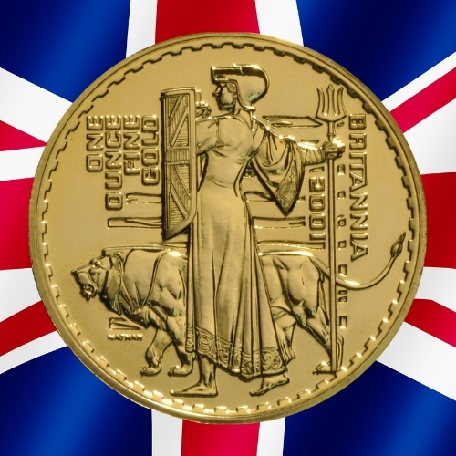 Gold Britannia Coins - Britannia with the lion 1 oz gold coin 2001