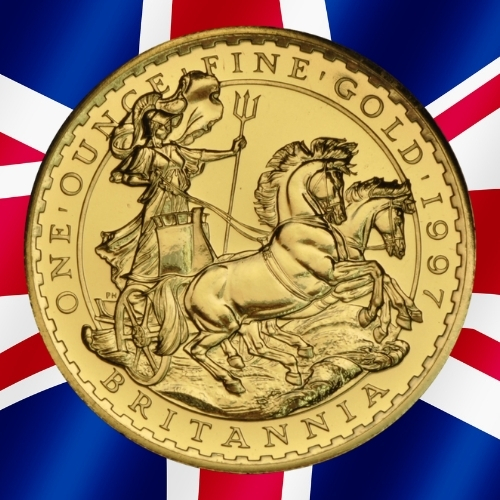 Gold Britannia Coins - The Charioteer Britannia 1 oz gold coin