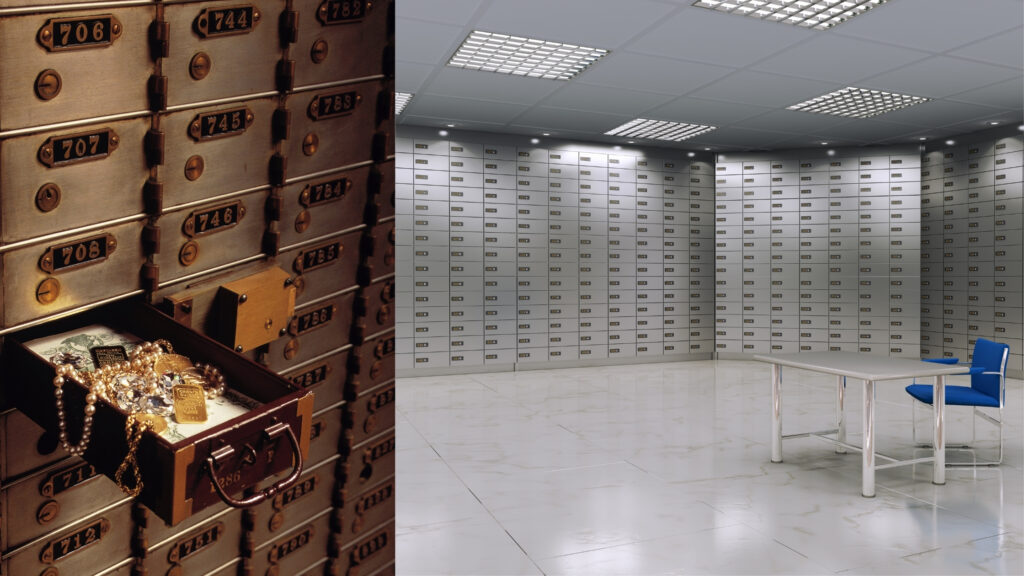 the best way to store gold - bank safe deposit boxes