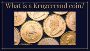 what is a krugerrand coin with coins in background