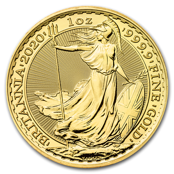 Brittania gold from goldbroker reverse