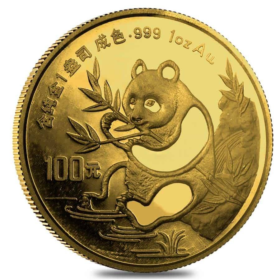 Chinese Panda Gold Coin Review 1991 Reverse Design