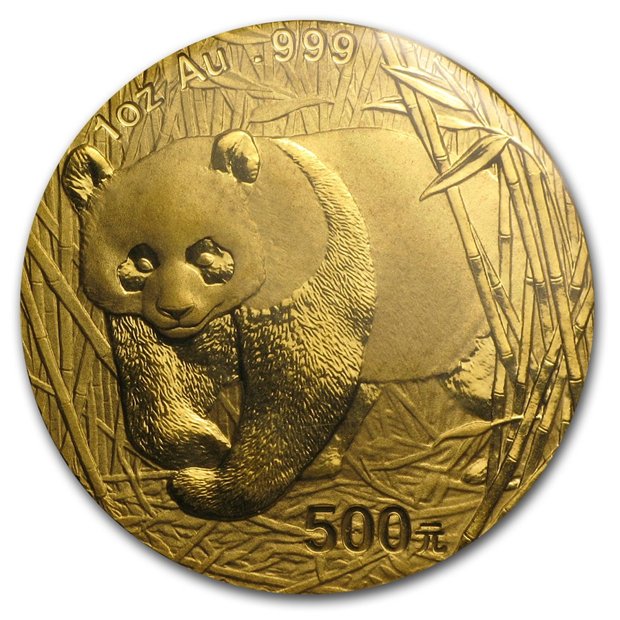 Chinese Panda Gold Coin Review 2001 Reverse Design