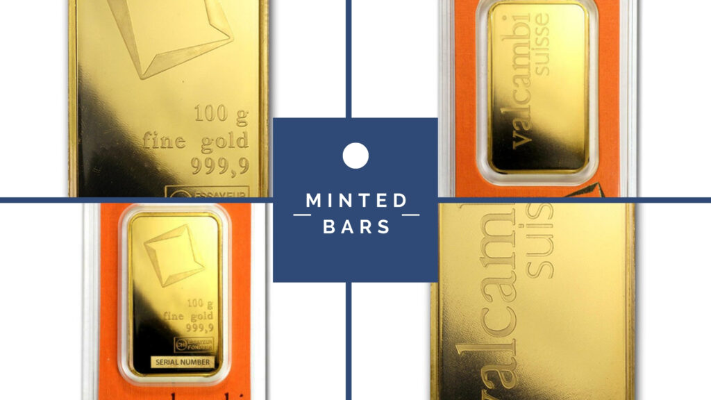 gold minted bars