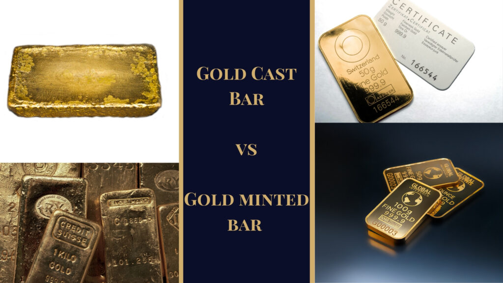 Gold Cast Bars vs Gold Minted Bard
