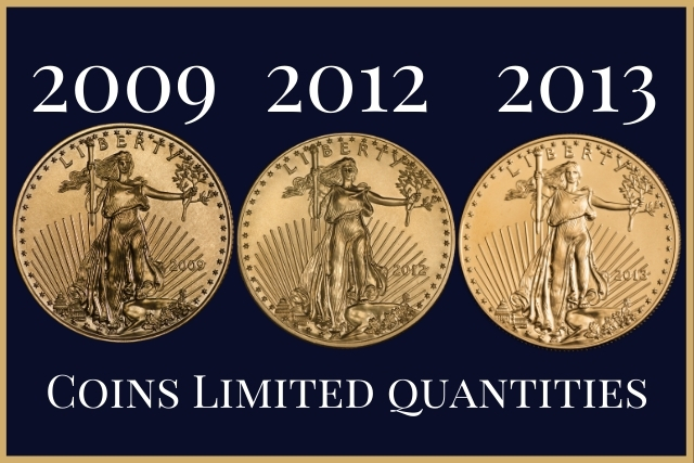 gold coins vs gold bars & coins limited quantities
