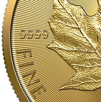 gold maple leaf 99.99 purity