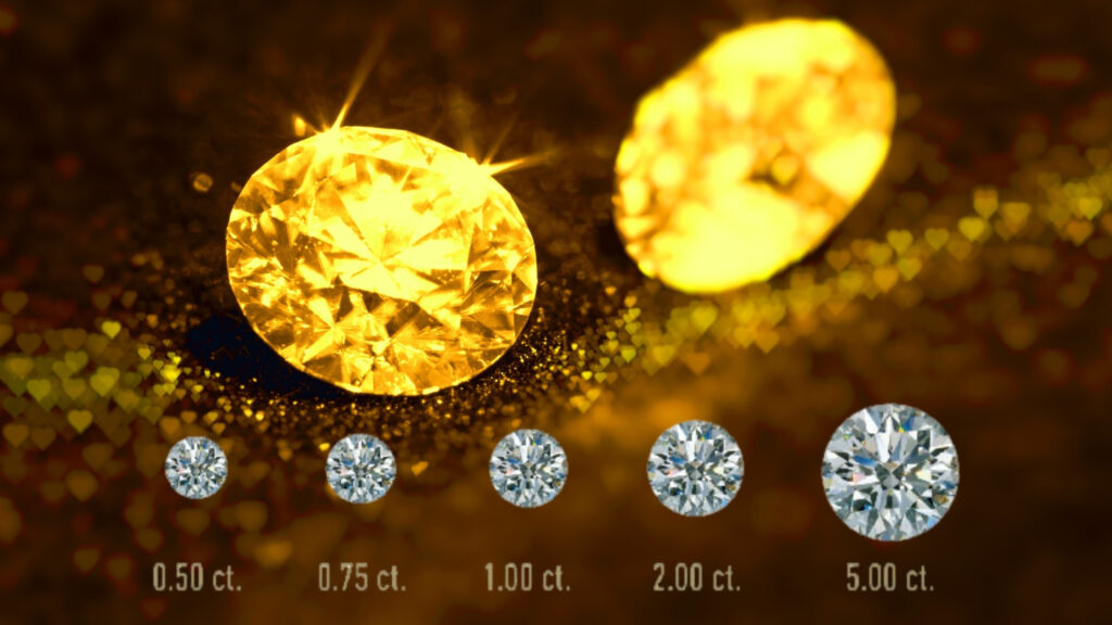 gold purity diamond carats