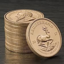 Krugerrand coins stacked