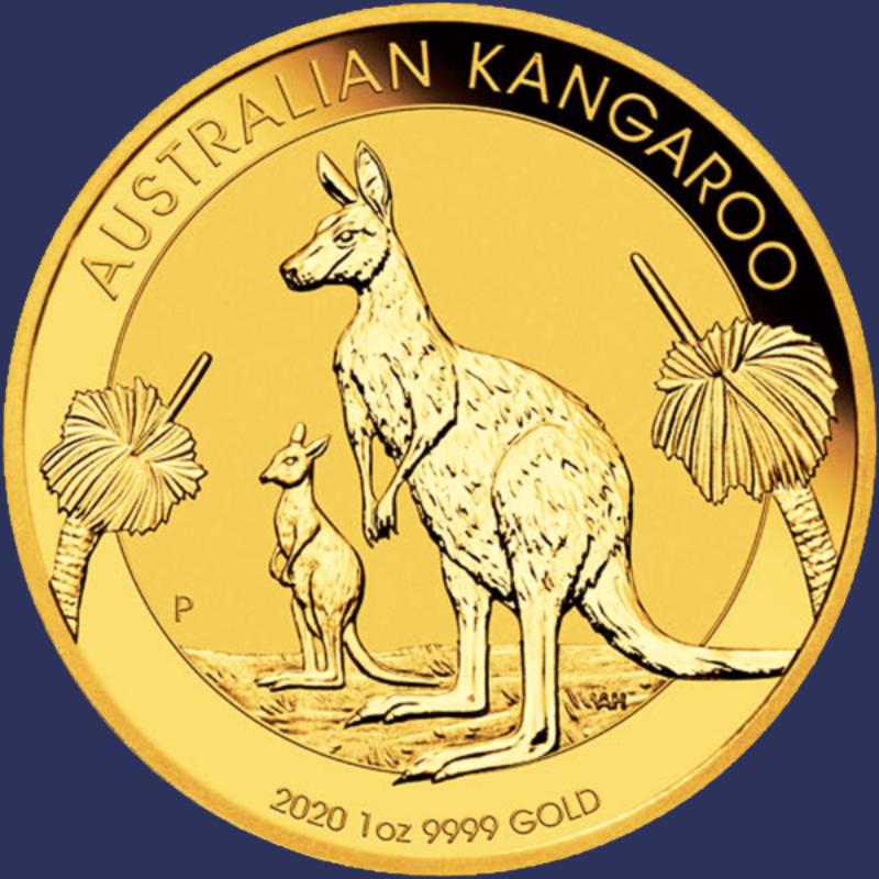 Australian gold nuggets - 2020 obverse 1 oz coin