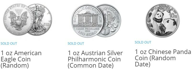Is it too late to buy silver in 2021 coins sold out