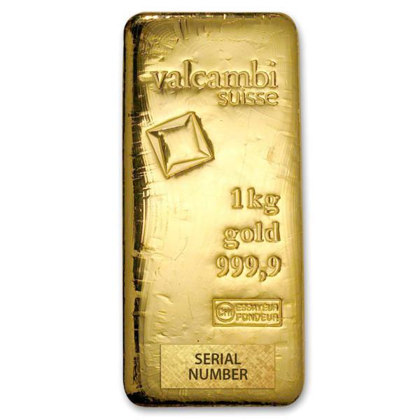 Valcambi 1kg gold bar from goldbroker