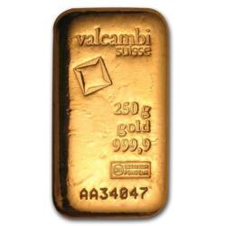 Valcambi 250g gold bar