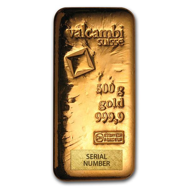 Valcambi 500g bar from goldbroker