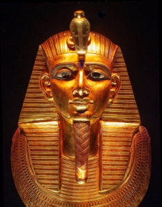 Pharaoh gold plated statue