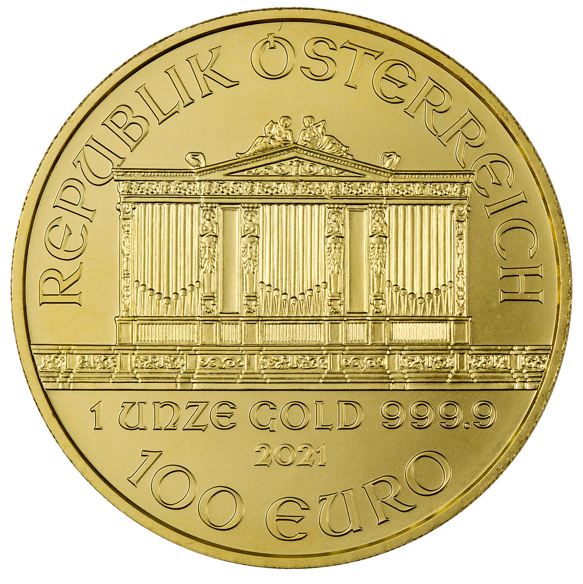 best gold coins of 2021 philharmonic gold coin reverse